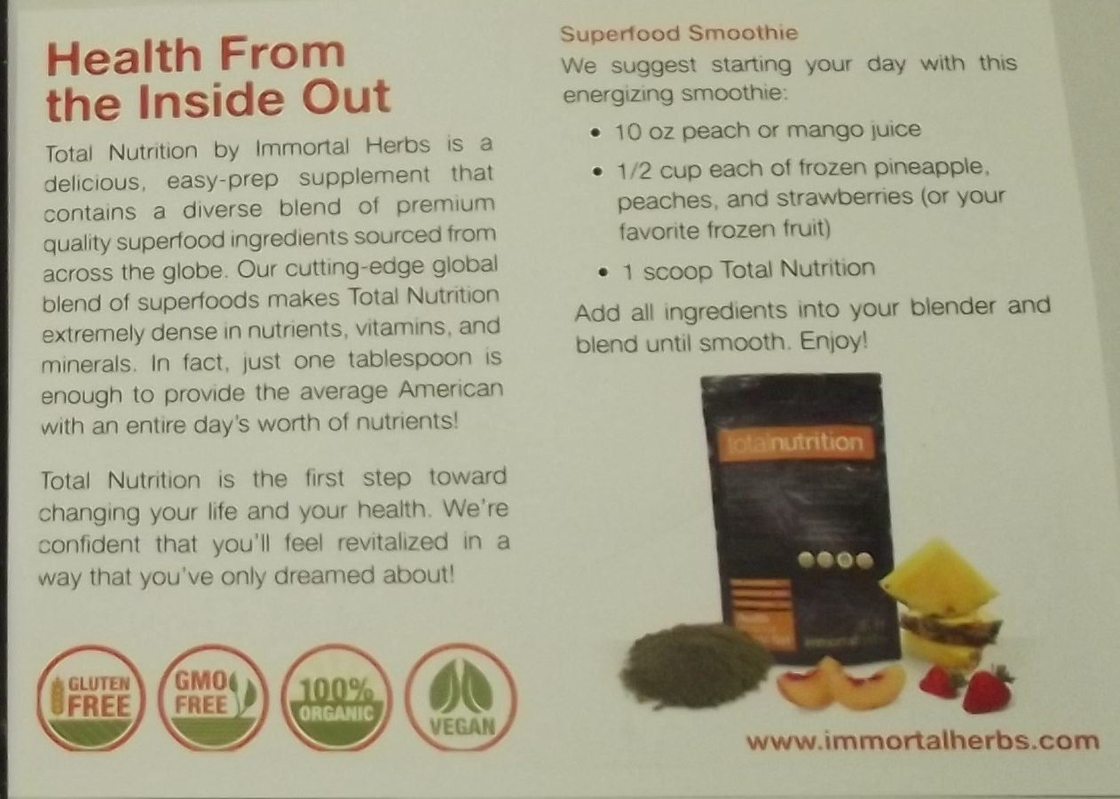ImmortalHerbs Tomoson Review